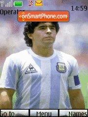 Diego Armando Maradona theme screenshot