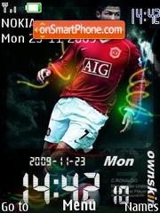 Скриншот темы Ronaldo Clock