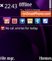 Скриншот темы Purple illusion