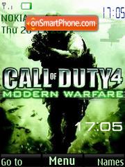 Call of duty SWF Clock theme screenshot