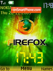 Mozilla Firefox SWF Clock theme screenshot