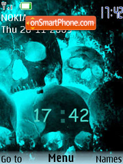 Skull Asum theme screenshot