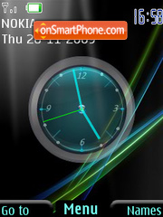 Vista clock theme screenshot