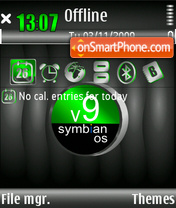 Lifeblack Symbian 9 theme screenshot