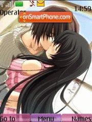 Anime Kiss theme screenshot