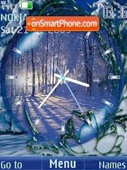 Clock winter3 animated tema screenshot