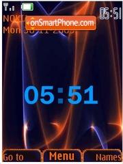 Swf clock-animated theme screenshot