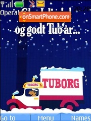 Tuborg Xmas theme screenshot