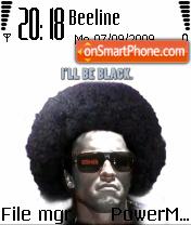 Ill Be Black theme screenshot