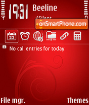 Red shine v2 theme screenshot