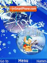 Скриншот темы Winter5 clock animated
