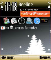 Black Xmas theme screenshot