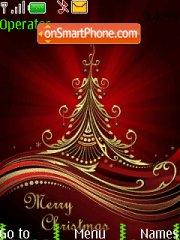 Abstract Christmas Tree tema screenshot