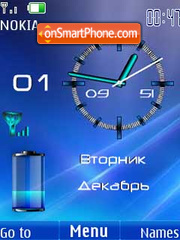 Clock battery & date3 theme screenshot