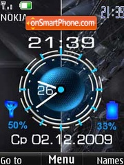 Clock battery & date4 theme screenshot