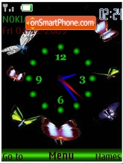 Butterfly swf clock animated theme screenshot