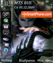 Dark elf by altvic theme screenshot