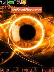Orange Eye theme screenshot