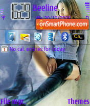Jennifer Lopes theme screenshot