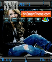 Miley Cyrus 01 theme screenshot