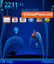 Скриншот темы Alien And Chameleon