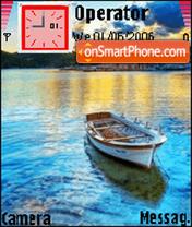 Barca al tramonto es el tema de pantalla