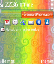 Rainbow 06 theme screenshot