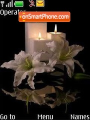 Flowers and candles es el tema de pantalla