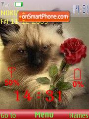 Cat and Rose SFW theme screenshot
