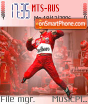 Michael Schumacher 01 theme screenshot