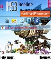 Maple Story theme screenshot
