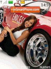 Girl&car1 theme screenshot