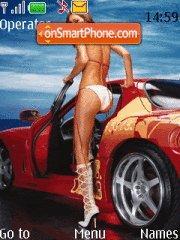 Скриншот темы Girl&car5