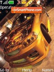Gold Car tema screenshot