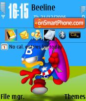 Capitan Bartmerica theme screenshot