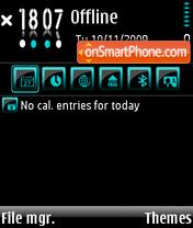 Скриншот темы Black n Blue