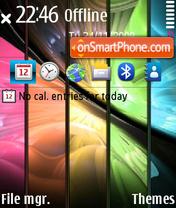 Capture d'écran Power Colours thème
