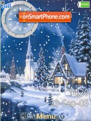 SWF Winter Town es el tema de pantalla