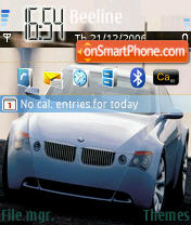 BMW 01 theme screenshot
