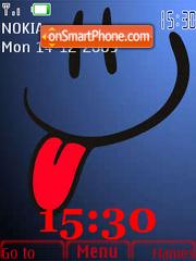 Blue Smile SWF theme screenshot