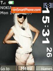 Lady Gaga SWF Clock es el tema de pantalla