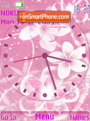 Pink SWF Clock theme screenshot