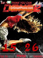 Dance SWF Clock theme screenshot