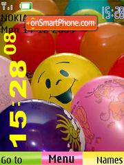 Balloon SWF Clock es el tema de pantalla