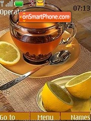 Скриншот темы Tea with a lemon