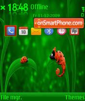 Ladybug and Chameleon tema screenshot