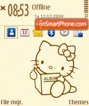 Hello kitty 34 es el tema de pantalla