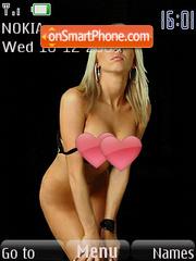 Sexy blonde theme screenshot