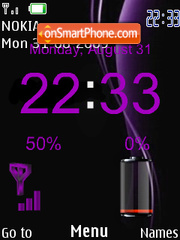 Abstract Purple SWF theme screenshot