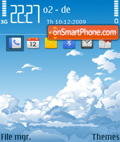 Blue sky 03 tema screenshot